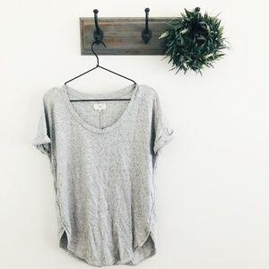 Lou & Grey Gray Marled Sweater T-Shirt M